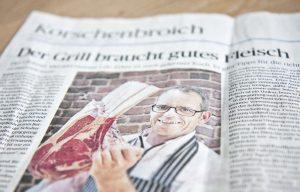 Fleischerei Erkes Glehn in der NGZ - Der Grill braucht gutes Fleisch